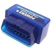 Lector mini Bluetooth compatible con Android / Droid / Torque Soporte OBD2 ELM327 OBD II lector de alimentación 2 - Azul