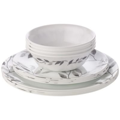coreller-12-piece-misty-leaves-dinner-set-with-plates-side-plates-bowls-for-4