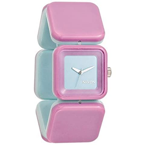 Reloj Nixon para mujer de San Francisco con niebla luz con luz morada azul