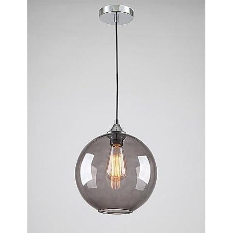LYNDM-Miglior regalo di Natale,moderno in vetro luce pendente in tondo grigio fumo Bubble Design ,