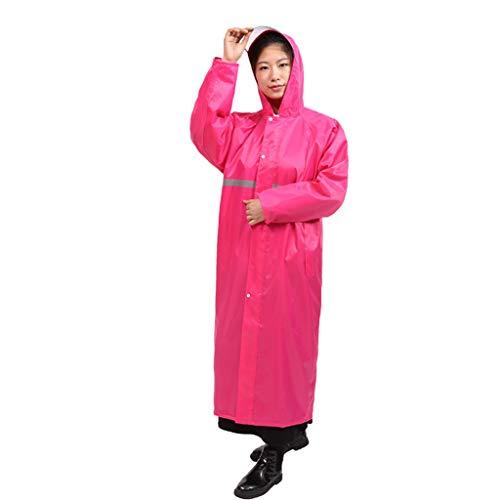 QIYUEYU Regenmantel, Männer und Frauen dicken Langen Abschnitt siamesische Mode Regen Erwachsenen Outdoor-Regenmantel Reitjacke Lange Wander Poncho (Farbe : Rosa, größe : XXXL)