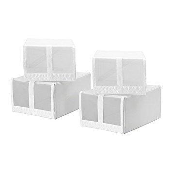 SKUBB 4 Pack White Shoe Boxes (22x34x16 cm) by SKUBB d'occasion  Livré partout en Belgique
