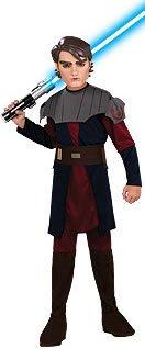 Star Wars Anakin Skywalker Kinderkostüm, 4 Teile: Tunika, Hose, Maske, Gürtel - L