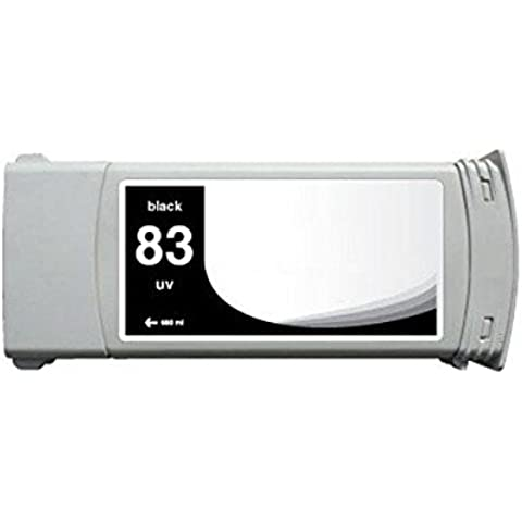 Cartucho HP 83negra C4940A Rigenerata para HP DesignJet 500055005000PS 5500ps 680ml Tinta pigmentada