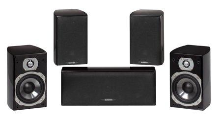 Quadral Edlestahl Stil 5.05.0Kanäle schwarz-Set Lautsprecher-Tischset Schwanger (5.0Kanäle, Heimkino, XLR, 90W, 51-46000HZ, 8Ohm)