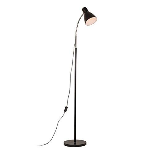 Lampadaire Bouton-poussoir Interrupteur À LED Chambre Lampadaire Salon Étude Vertical Lampe De Table Noir