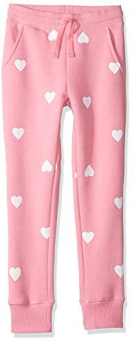 Amazon Essentials Fleece Jogger pants, Pink Heart, L