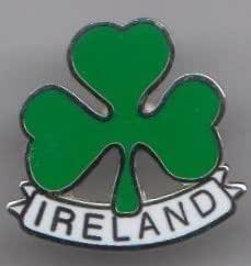Drapeau Irlande Badge à épingle Trèfle irlandais