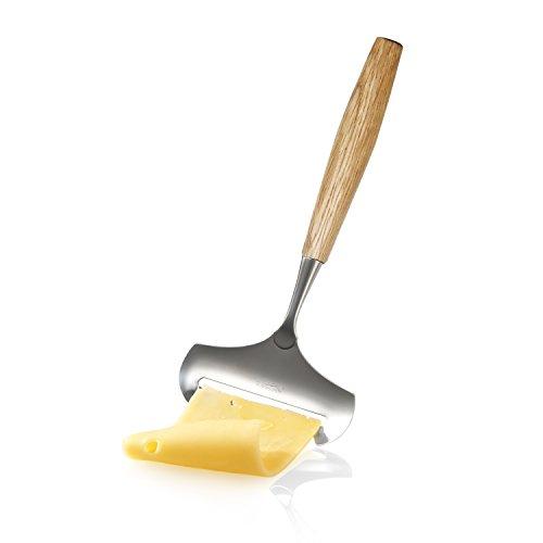 BOSKA Hobel für Junge Käsesorten aus Eichenholz/Edelstahl, Silber/braun, 21 x 2 x 1 cm