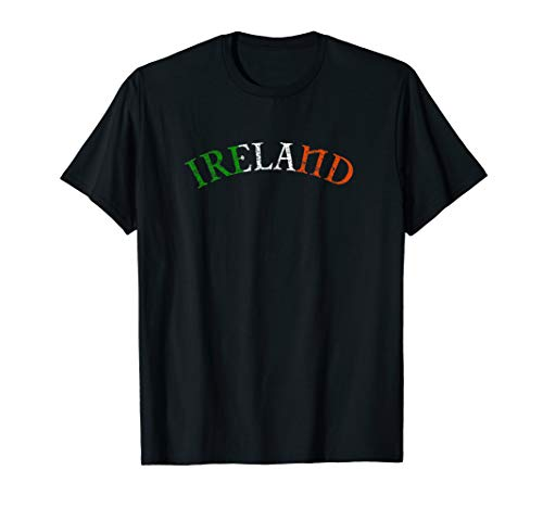 Irland Erin Go Bragh 2-seitige Celtic Clover Flagge T-Shirt -