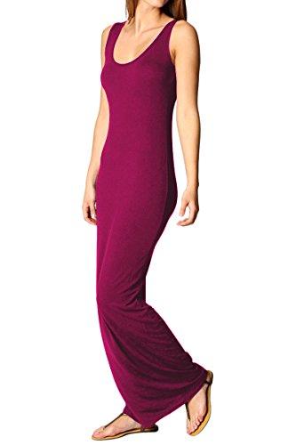 YMING Vestito estivo donna da donna Sexy Bodycon Sleeveless Casual Holiday Stretch Maxi Vestito Rosa