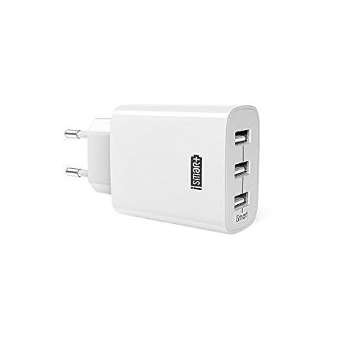 Chargeur USB Secteur 3 Ports Universel Secteur Mural RAVPower 30W