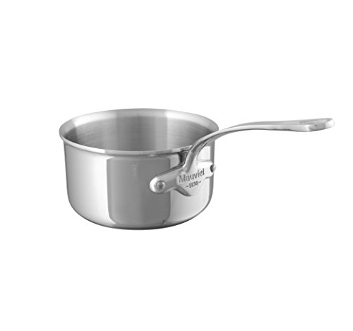 Mauviel M'Cook 18 cm Stainless Steel Saucepan with Cast Stainless Steel Handle and 2.6 mm Thick
