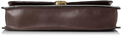 Man Tasche von CTM Arbeitsordner, Port Dokumente, 38x27x7cm, 100% echtes Leder Made in Italy Braun (Marrone Scuro)