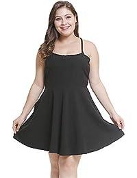 da16f4f3215 Kampf Kleid Damen Sommer Sexy Tailliert Strap A-Linie Minikleid U  Ausschnitt Bodycon Wickeloptik Abiballkleid