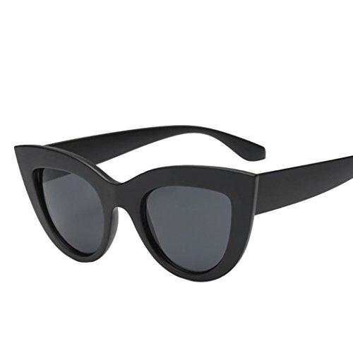URSING Damen Mode UV Brillen Retro Vintage Cat Eye Katzenaugen Sonnenbrille Klassisch Dreieck Sonnenbrillen Mode Fashion Women Sunglasses Stylish Eyewear Damenmode Damenbrillen (F)