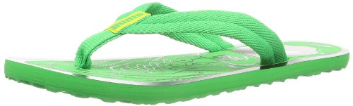Puma Epic Flip FIL Jr 187083 Unisex-Kinder Zehentrenner, Grün (island green-buttercup-black 02), EU 37 (UK 4) (US 5)