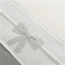 Little Naturals 008-524-64958 Drap, 120 x 150 cm, Linen Décoration Bow Blanc/Gris