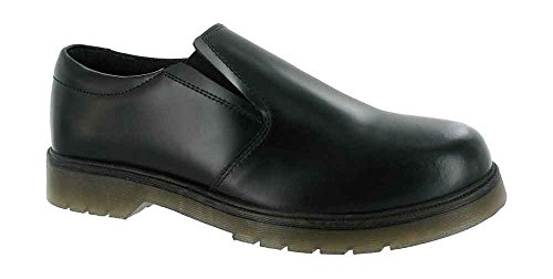 Amblers Mens Boston Slip On Leather Fabric Lined Shoe Black Black