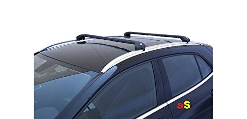 Auto-Dachträger Gepäckträger Viva 2integrierten schwarz für Suzuki Vitara ab 2015