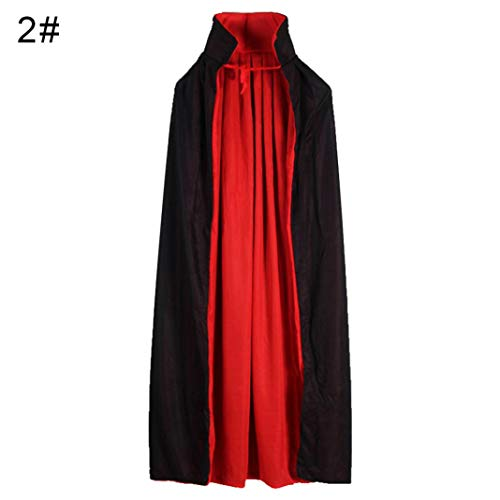en Kinder Kapuzen Hexe Zauberer Vampir Mantel Cosplay Kostüm Cape Kleid Robe - L Doppel Schichten Kragen ()