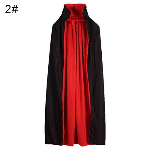Steellwingsf Halloween Kinder Kapuzen Hexe Zauberer Vampir Mantel Cosplay Kostüm Cape Kleid Robe - M Doppel Schichten Kragen