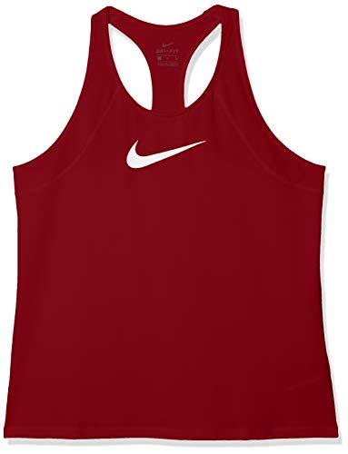 Nike Damen W NP All Over MESH Tank, red Crush/White, XS (Nike Pro T-shirt Frauen)