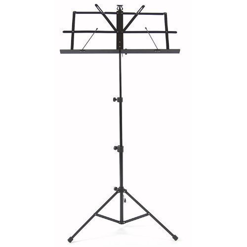 high-quality-music-sheet-holder-folding-metal-stand-with-carry-case-bag