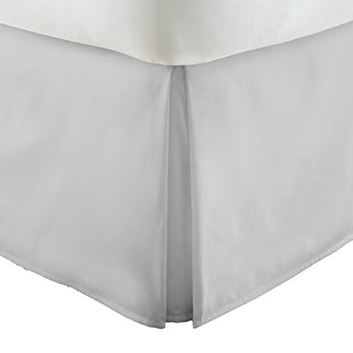 ienjoy Home Ieh-Bedskirt Pleated Bed Skirt, Full, Lgray Pleated Full Skirt