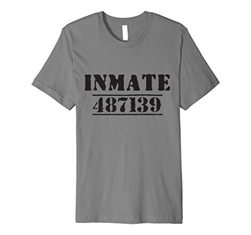 Gefangene Kostüm Shirt DIY Inmate Sträfling Halloween Tee