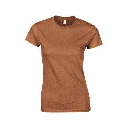 Gildan - Maglietta Maniche Corte - Donna Erica arancio