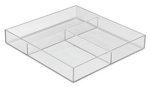 iDesign 49610EU Clarity Schubladen-Organizer-groß, 30,5 x 30,5 x 5 cm, durchsichtig, kunststoff
