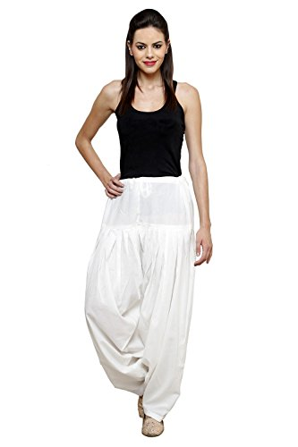 Pistaa\'S Women\'s Cotton Patiala Salwar Bottoms (APSOF_Off White_Free Size)