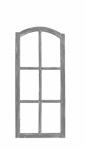 fensterrahmen deko fenster Posiwio Deko-Fensterrahmen Holz- Rahmen Fenster-Attrappe Holz Shabby Grau gewischt Vintage