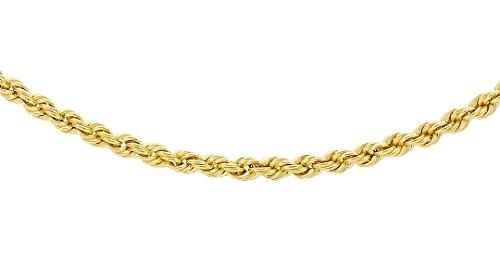 Carissima Gold Zopfkette 9k (375) Gelbgold 56cm/22zoll (- 22-zoll-gold-chain)