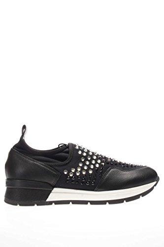 37856 NERO.Sneaker slip on strass.Nero.40