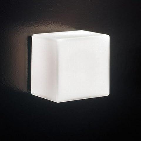 FULL Il regalo di Natale vetro comodino moderno corridoio corridoio di ghiaccio a LED lampada da parete del cubo, 12 * 12cm,senza luce