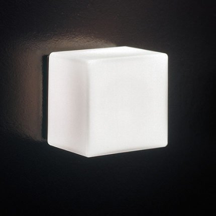 Lampada da parete di vetro Comodino moderno navata corridoio LED ghiaccio cubo,15 * 15cm