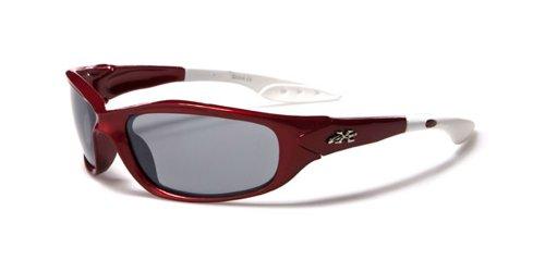 X-Loop Kinder Sportbrille Sonnenbrille Skibrille - New Collection (Limited Edition) (Mit Sonnenbrillen Etui) (Rot Premier)