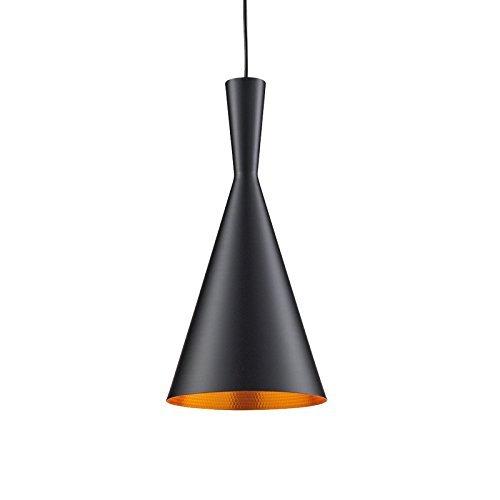 Black Pendant Antique Vintage industrial CONE style Hanging Light, E27 Holder, Decorative, Urban Retro style, black powder coated.