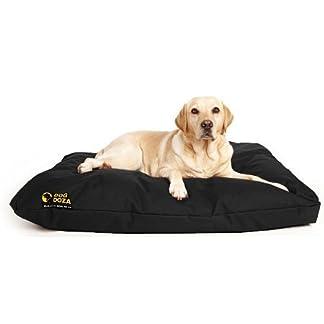 Dog Doza Waterproof PU Coated Dog Bed with Cushion, Black 9