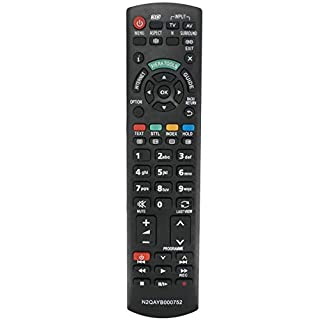 ALLIMITY N2QAYB000752 Remote Control Replace for Panasonic TX-P42GTS31 TX-P42GTX34 TX-P42ST30 TX-P42ST31 TX-P42ST32 TX-P42ST33 TX-P42UT30 TX-P46GT30 TX-P46GTF32 TX-P46GTN33