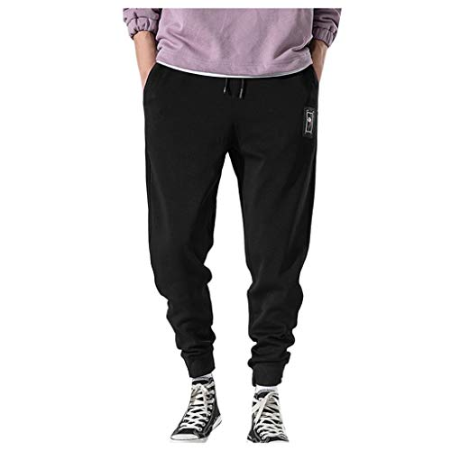 Dwevkeful Herren Cargo Trousers Pants Hosen Freizeithose Trainingshose Trekkinghose Jogginghose Beam Beine Stretch Unifarben Casual
