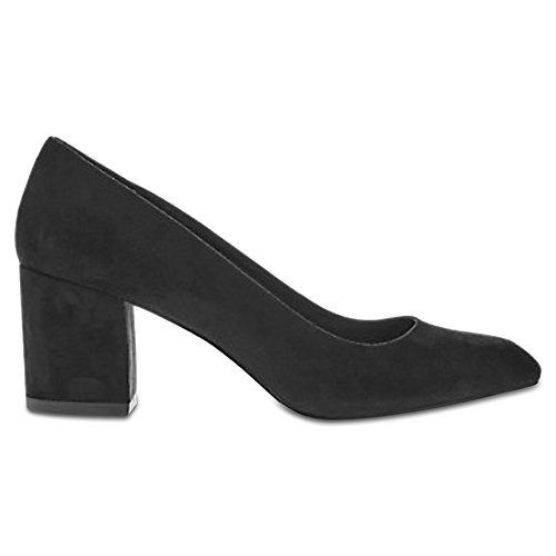 Marks & Spencer Insolia T026270W Wide Fit Suede Block Heel Court Shoes...