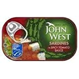 John West Sardines in Spicy Tomato Sauce, 120g