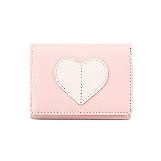 Rekkles Women Girls Trifold Soft PU Short Wallet Cards Coins Change Pocket Solid Color Cute Clip Purse