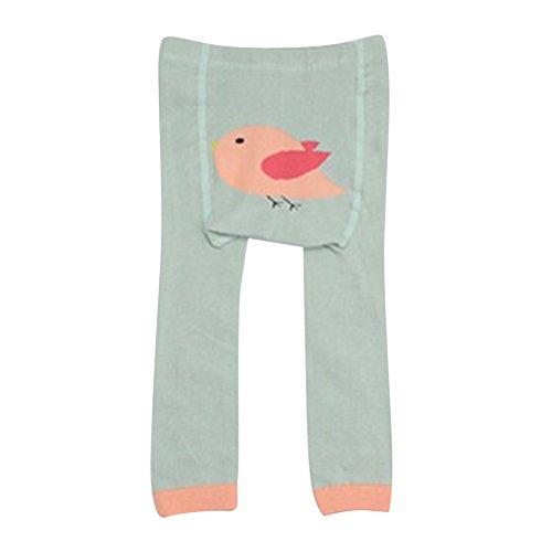 Collants pour bébés tout-petits, Meedot Coton Collants pour bébés Body-Stocking Ninth Leggings Green Bird S/0-2 years