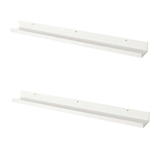 Unbekannt IKEA MOSSLANDA Bilderleisten in weiß; (115cm); 2 Stück