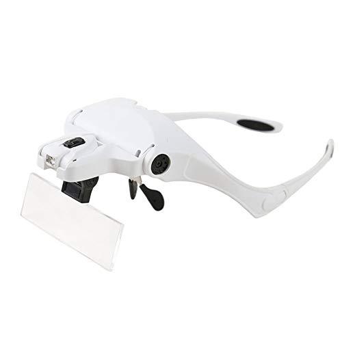 Preisvergleich Produktbild XLFD Wearable Abnehmbare 5 Linsen verstellbar mit 2 LED-Leuchten geeignet für Lesen,  Schmuck,  Uhren,  elektronische Reparatur