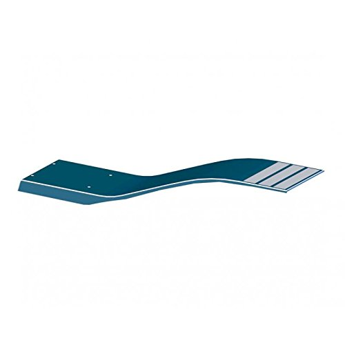 LORDS (POOL CONSTRUCTION) 00076 trampolín elástico de poliéster y Fibra de Vidrio, Modelo delfín de Color Azul Celeste. Longitud 1,6 m. Ancho 0,35 M.